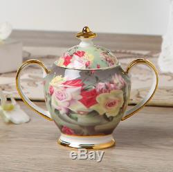 Europe Vintage Rose Bone China Set De Café En Porcelaine Britannique Set De Thé Pot En Céramique