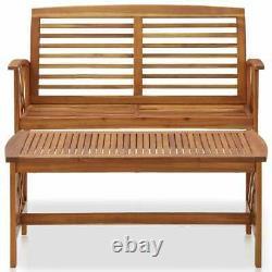 Extérieur Patio Meubles En Bois Vintage Garden Bench And Coffee Table Bistro Set