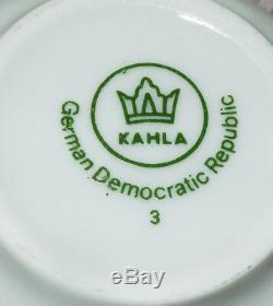 Garniture Vtg Or Kahla À Thé En Porcelaine / Demitasse Set Café! 15 Pcs! Gdr Allemagne De L'est
