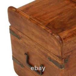 Grande Boîte De Stockage En Bois De Coffre De Coffre De Trésor De Cru Tronc Table Antique De Cas