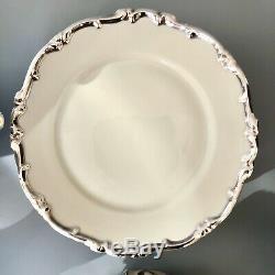 Hertel Jacob En Argent Sterling Overlay Thé En Porcelaine / Café Set Art Déco Vintage