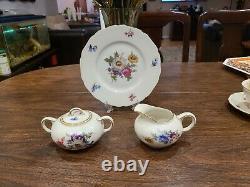 Hutschenreuther Hohenberg Fine Allemande Vintage Chine Thé Et Café Set 26 Pieces