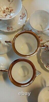 Jiesia Urss Ensemble Lituanien De Café En Porcelaine Vintage