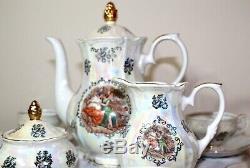Kahla Garniture En Or Porcelaine Madonna Café Set Rda Allemagne Vintage Fine China