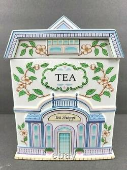 Lenox Spice Village Canisters Flour Sucre Café Tea Set Vintage 1990 Porte-jarre