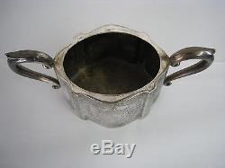 Lot De 4 Vintage Silverplate Set De Thé Théière À La Crème De Sucre Pot De Café Antique 809