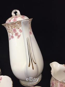 Magnifique Ensemble De 15 Pièces De Thé Et Café Shelley Rare Vintage Bone China