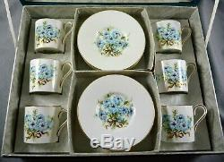 Magnifique Vintage Aynsley Bone China 12 Piece Coffee Boxed Set C 1940