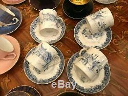 Mixte Vintage Allemand Anglais Danois 18 Coupes Et 19 Soucoupes Set Café