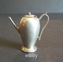 Nice Vintage Anglais Sterling Silver Miniature 3 Pièces. Café / Thé