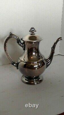 Nice Vintage Argent Plated Cafe Tea Set 5 Pcs Anglais