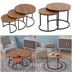 Nid De Table De Café 2/3 Table Ronde Nesting Tables Latérales Vintage Living Room Set
