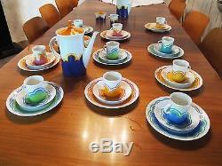 Original Rosenthal Kaffee Service Berlin Theo Baumann 10 Pers. Ensemble De Café Vintage