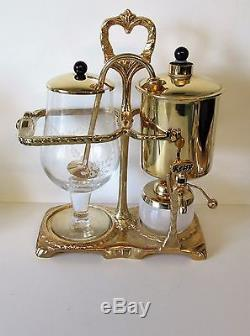 Perco Retro Vintage Balance Coffee Maker 0.6 Litre Comp Set Vgc Gold Plate