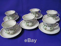 Porcelaine Russe Vintage Soviétique Café Set, Gorodnica Marque, Urss, 70 Ans. Rare