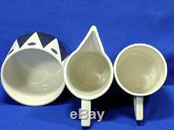 Portmeirion Gold Diamond 15 Pièces Cylindre Café Set Inutilisées Rare Vintage 1960