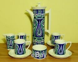 Portmeirion Vintage 1965 Monte Sol Set Café Par Susan Williams-ellis