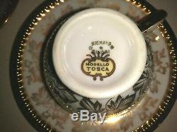 Prix De Vente Tres Rare Set Reduite Vintage Antique Richard Ginori Thé / Café Set