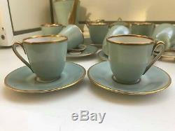 Rare 10 Tasses 10 Soucoupes Vintage Zeh Scherzer Bavière Service À Café En Porcelaine De 14 Pièces
