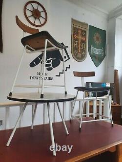 Rare 1950's Kandya'program' Cafe/entryway Set. Table & Chaises. Vintage/rétro