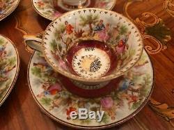 Rare Vintage 11 Tasses 12 Soucoupe Allemand Wunsiedel Bavière Service À Café