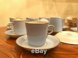 Rare Vintage 12 Tasses 12 Saucer Danemark Royal Copenhagen Porcelain Coffee Set