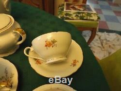Rare Vintage Epiag D. F. Slovaquie Tchéco À Thé En Porcelaine / Café Set