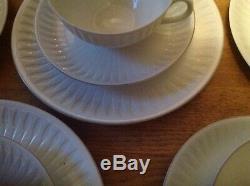Rare Vintage Porsgrund Spire Motif Blanc (26 Pièces Thé / Café Set) Rare
