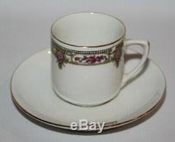 Richard Ginori, Italie Rose Garland, C1214 Vintage 15 Piece Café Set Pour 6