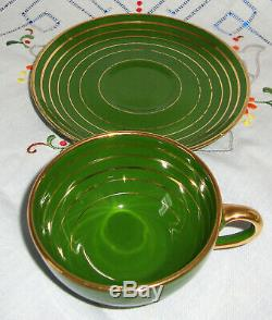 Richard Ginori Vert Et Or Vintage Set Café