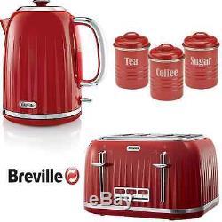 Rouge Breville Impressions Bouilloire Et Grille-pain + Thé Vintage Café Sucre Ca