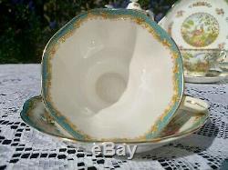 Royal Albert Bleu Chelsea Oiseaux À Thé / Café Vintage Set Anglais Bone China