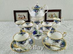 Royal Albert Moonlight Rose Vintage Set Thé, Café Mis En Porcelaine Angleterre