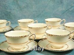 Royal Doulton Vintage Tea Coffee Set Découpe De Bords Dorés Crème 1938 V1926
