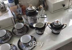 Service À Café Complet Vintage Dragon Blanc Impérial. Expédier Dans Le Monde Entier