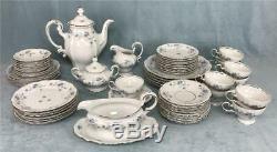 Service À Café En Porcelaine De Chine Vintage Johann Haviland Blue Garland 54 Pièces