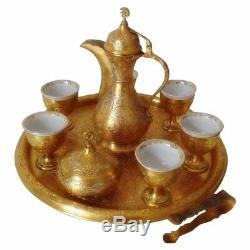 Service À Café Turc Ottoman Turc Vintage Islamique Mocca Dallah