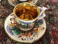 Service À Café Vintage Capodimonte En Bon État