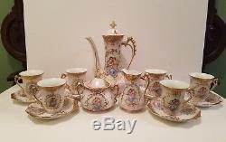 Service À Café Vintage En Porcelaine Au Chocolat Et Thé