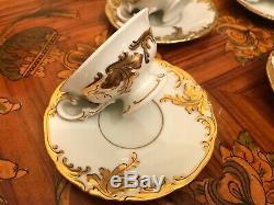 Service À Café Vintage En Porcelaine De 12 Tasses À Soucoupe Kpm