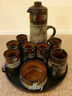 Service À Café Vintage Newlyn Celtic Pottery