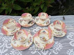 Service À Café Vintage Paragon Rockingham Rose
