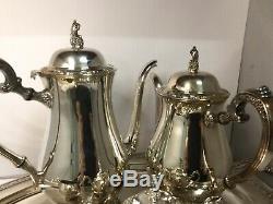 Service À Café Vintage Plaqué Argent 5 Articles Qualité Oneida Silversmiths USA
