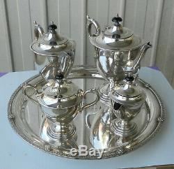 Service À Thé / Café Vintage 5 Pièces Paramount Triple Silver Plate Epns