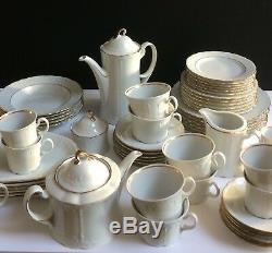 Service À Thé Et Café Le Soir Assiettes Seltmann Blanches Bols Vaisselle Vintage