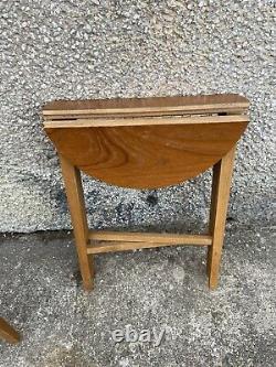 Set Vintage MID Century Teck Plant Stands Café Pliant Poul Hundevad Tables P2