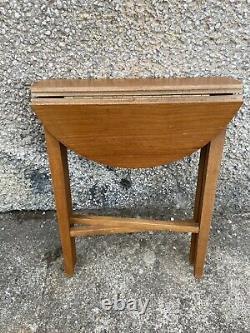 Set Vintage MID Century Teck Plant Stands Café Pliant Poul Hundevad Tables P3