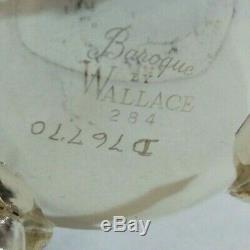 Set Vintage Tea Wallace Baroque Café 2 Cruches Creamer Sucrier Couvercle Platter