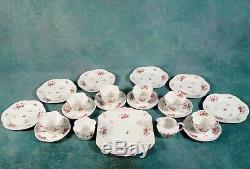 Shelley Rose Et Daisy Rouge 13425 Set De Thé Café Délicat Tasses Bone China Vintage