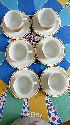 Superbe Années 1970 Vintage Egersund Korulen Modèle Solsikke Set Café
